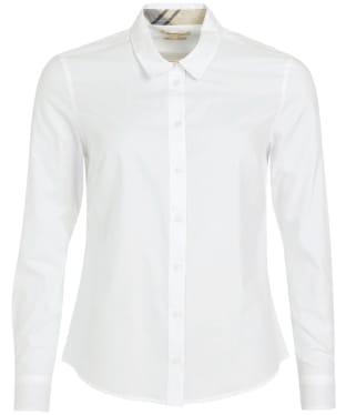 Women's Barbour Derwent Shirt - WHITE/HESSIAN