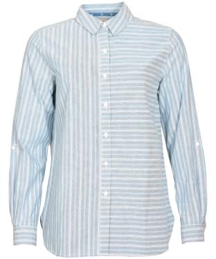 Women's Barbour Foxton Shirt - Slate Stripe