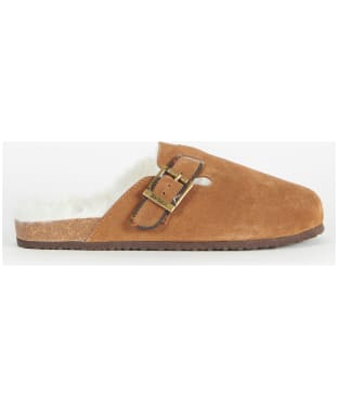 Women's Barbour Nellie Slippers - Camel Suede