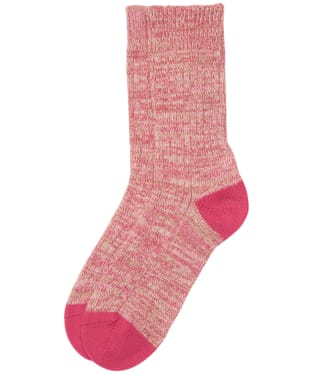 Women's Barbour Colour Twist Socks - Pink / Taupe
