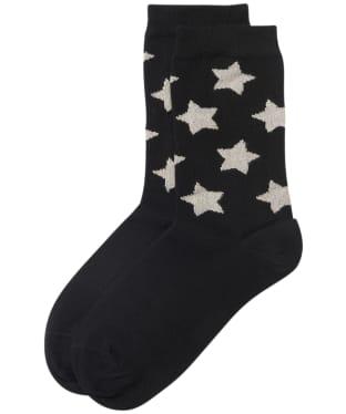 Women's Barbour Sparkle Star Socks - Black