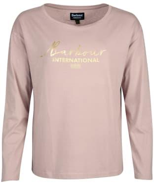Women's Barbour International Picard Long Sleeve Tee - Fawn