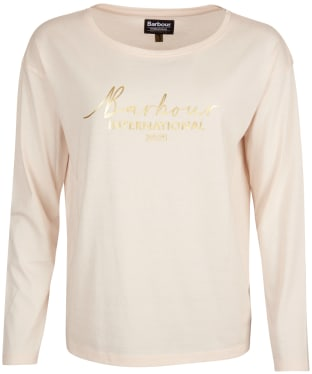 Women's Barbour International Picard Long Sleeve Tee - Champagne