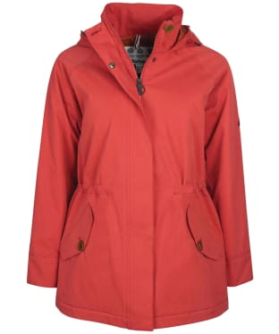 Women's Barbour Collywell Waterproof Jacket - Flame Red