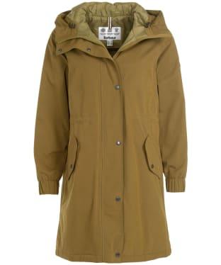 Women's Barbour Hauxley Waterproof Jacket - Nori Green