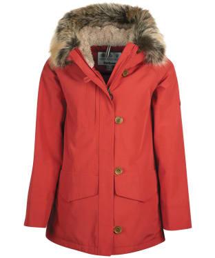 Women's Barbour Warkworth Waterproof Jacket - Flame Red