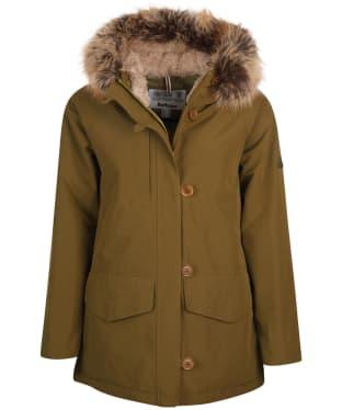 Women's Barbour Warkworth Waterproof Jacket - Nori Green