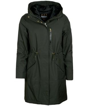 Women's Barbour International Rueka Waterproof Jacket - Moto Green