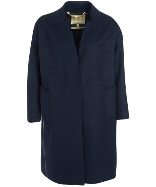 Women's Barbour Talbert Wool Coat - Dark Navy
