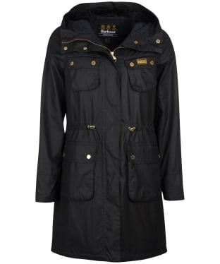 Women's Barbour International Monza Waxed Jacket - Black