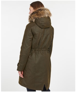 Women's Barbour Hartwith Wax Jacket - Olive