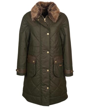 Women's Barbour Golspie Waxed Jacket - Archive Olive