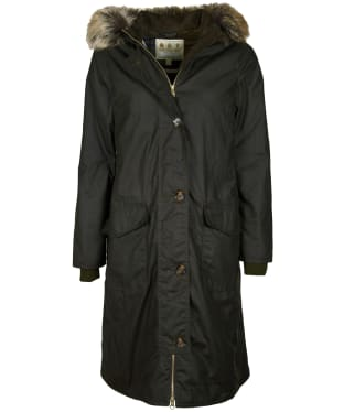 Women's Barbour Claudia Waxed Jacket - Olive