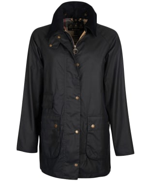 Women's Barbour Tain Waxed Jacket - Navy
