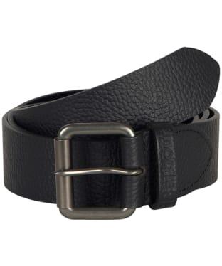 Barbour Matt Leather Belt - BLACK PEBBLE
