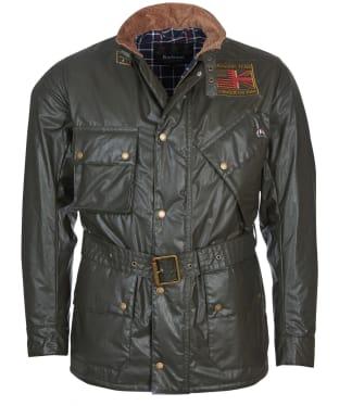 Men's Barbour International Steve McQueen Vintage Joshua A7 Casual Jacket - Olive