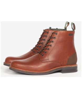 Men's Barbour Seaham Derby Boots - Mahogany