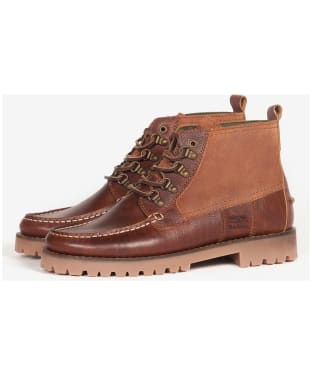Men's Barbour Topsail Ankle Boots - Cognac