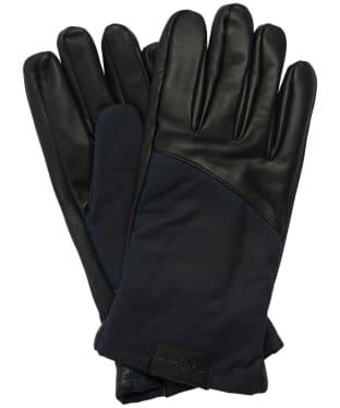 Men's Barbour Hebden Leather Gloves - Black