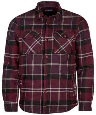 Men's Barbour Tartan Cannich Overshirt - Winter Red Tartan