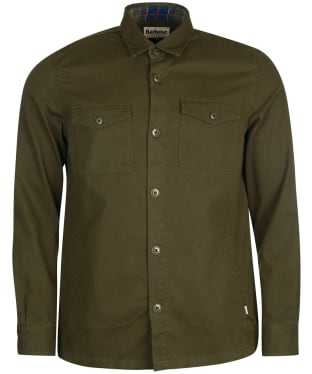 Men's Barbour Essential Twill Overshirt - Forest