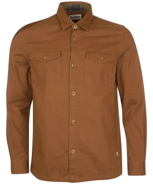 Men's Barbour Essential Twill Overshirt - French Sandstone