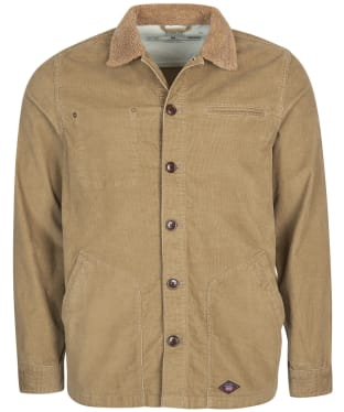 Men's Barbour International Steve McQueen Spark Cord Overshirt - Military Brown