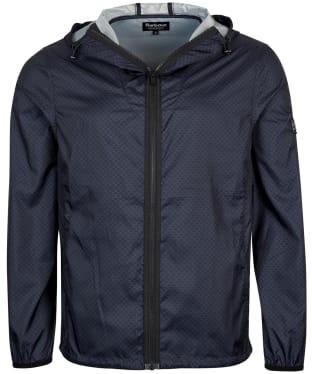 Men's Barbour International Accelerator Zip Through Overshirt - Black Print