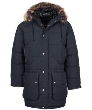 Men's Barbour Gold Standard Baffle Moe Quilted Jacket - Black