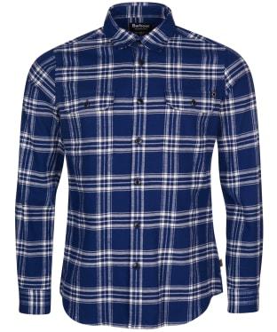 Men's Barbour International Bold Line Check Shirt - Regal Blue Check