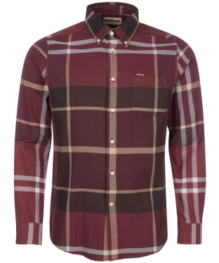 Men's Barbour Dunoon Tailored Shirt - Winter Red