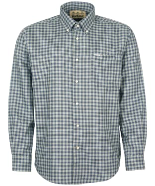 Men's Barbour Thornley Thermo Weave Shirt - Grey Marl Check