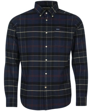 Men's Barbour Lutsleigh Shirt - Navy Marl Check