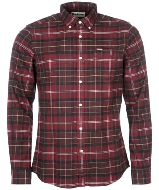 Men's Barbour Kyeloch Tailored Shirt - Winter Red Tartan
