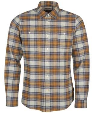 Men's Barbour Abletown Shirt - Light Grey Marl Check