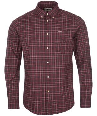 Men's Barbour Lomond Tailored Shirt - Winter Red Tartan