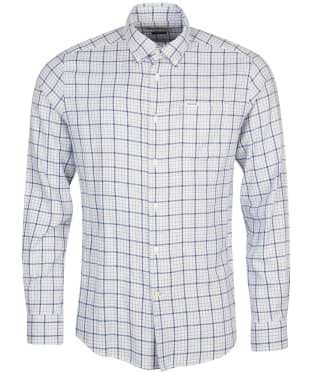 Men's Barbour Sherwood Eco Tailored Shirt - White Check