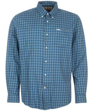 Men's Barbour Preston Regular Fit Shirt - Mid Blue