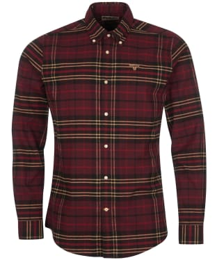Men's Barbour Ladle Tailored Check Shirt - Ruby Check