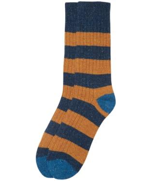 Men's Barbour Houghton Stripe Socks - Midnight