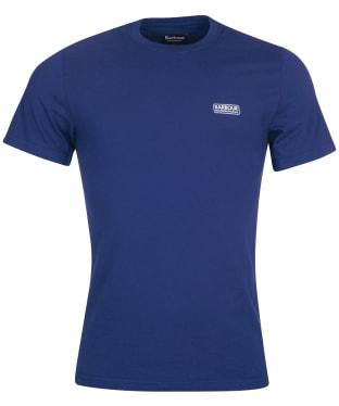Men's Barbour International Small Logo Tee - Regal Blue / Black