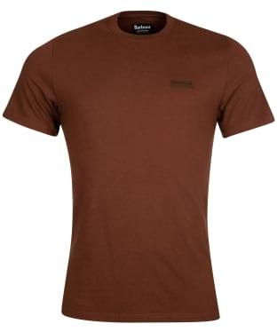 Men's Barbour International Small Logo Tee - Soil Brown