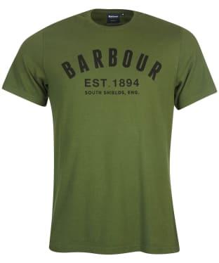 Men's Barbour Ridge Logo Tee - Duffle Green