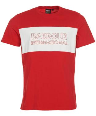 Men's Barbour International Line Logo Tee - Salsa