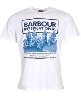 Men's Barbour International Arc Tee - White