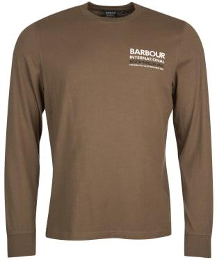 Men's Barbour International Transmission L/S Tee - Dusky Khaki