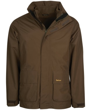 Men's Barbour Hallington Waterproof Jacket - Dark Olive