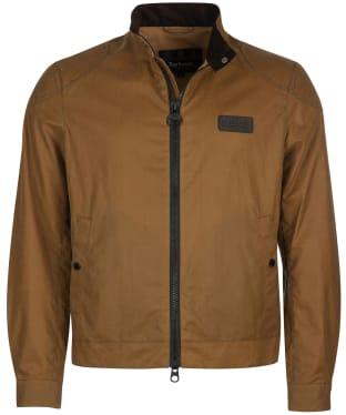 Men's Barbour International Stove Waxed Jacket - Sand