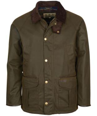 Men's Barbour Stratford Wax Jacket - Olive