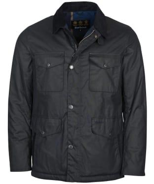 Men's Barbour Fawden Wax Jacket - Navy